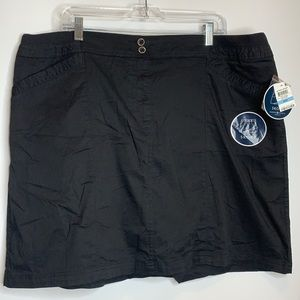 NWT Karen Scott Skort Short Black 20W PLUS SIZE